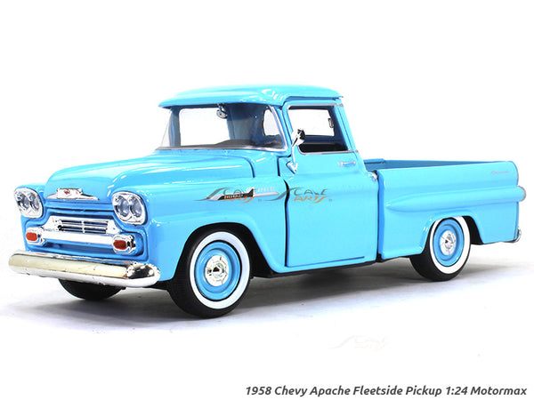 1958 Chevy Apache Fleetside Pickup 1:24 Motormax diecast scale model car