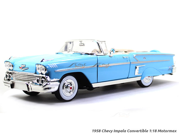1958 Chevy Impala Convertible 1:18 Motormax diecast scale model car