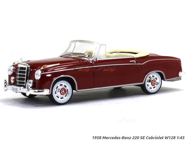 1958 Mercedes-Benz 220 SE Cabriolet W128 1:43 diecast Scale Model Car