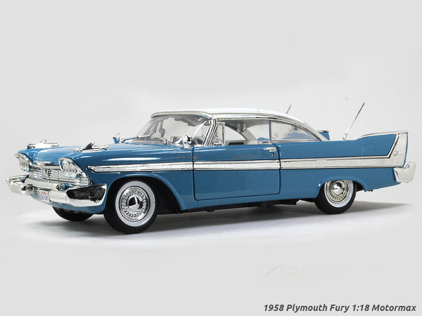 1958 Plymouth Fury blue 1:18 Motormax diecast scale model car