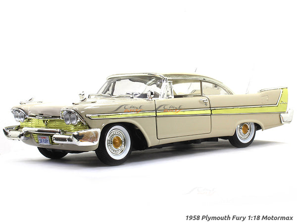1958 Plymouth Fury beige 1:18 Motormax diecast scale model car