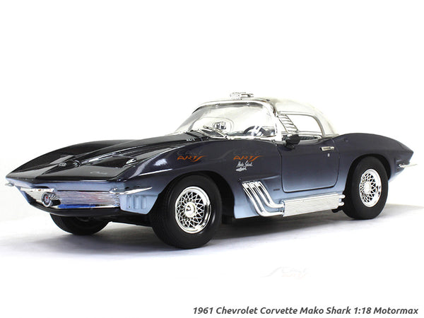 1961 Chevrolet Corvette Mako Shark 1:18 Motormax diecast scale model car