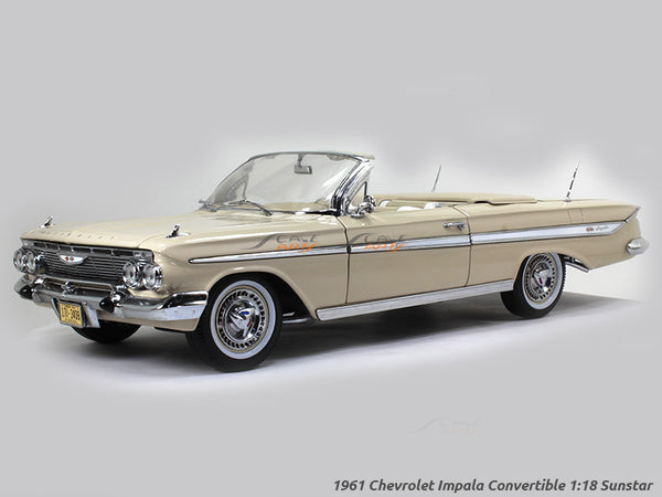 1961 Chevrolet Impala convertible 1:18 Sunstar diecast Scale Model car
