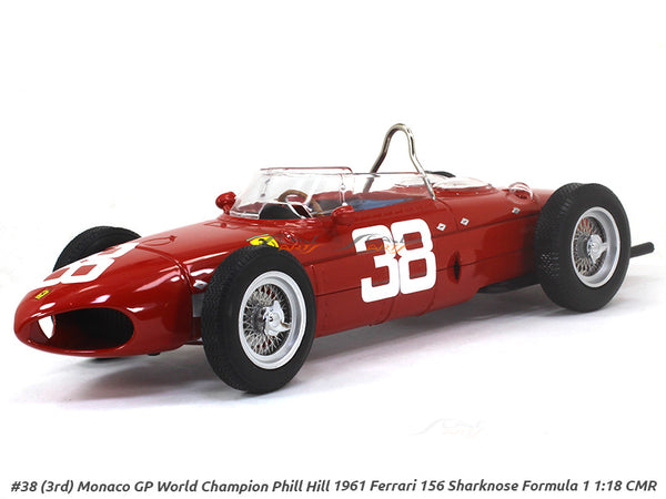 1961 Ferrari 156 Sharknose Formula 1 #38 Phill Hill 1:18 CMR diecast Scale Model Car