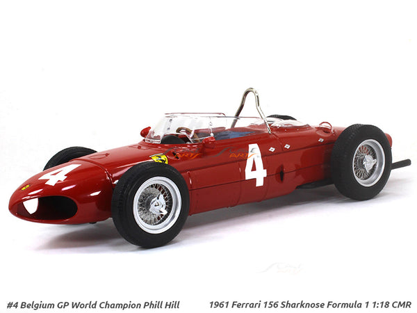 1961 Ferrari 156 Sharknose Formula 1 #4 Phill Hill 1:18 CMR diecast Scale Model Car