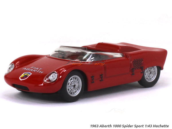 1963 Abarth 1000 Spider Sport 1:43 Hachette diecast Scale Model car