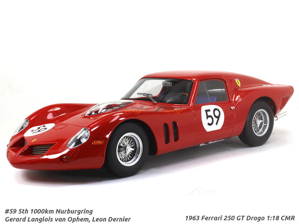 1963 Ferrari 250 GT Drogo #59 1:18 CMR Scale Model Car