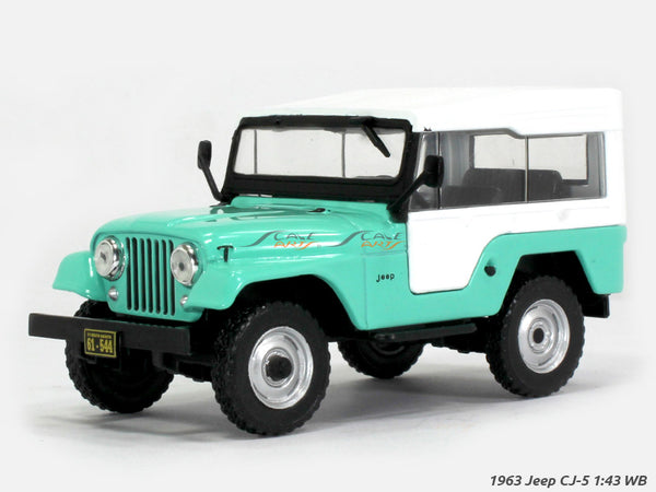 1963 Jeep CJ 5 1:43 Whitebox diecast Scale Model Car