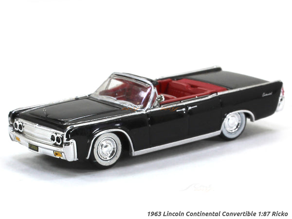 1963 Lincoln Continental Convertible black 1:87 Ricko HO Scale Model car