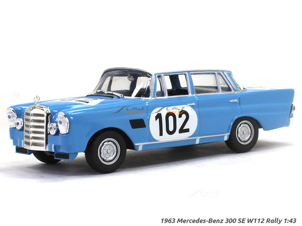 1963 Mercedes-Benz 300 SE W112 Rally 1:43 diecast Scale Model Car