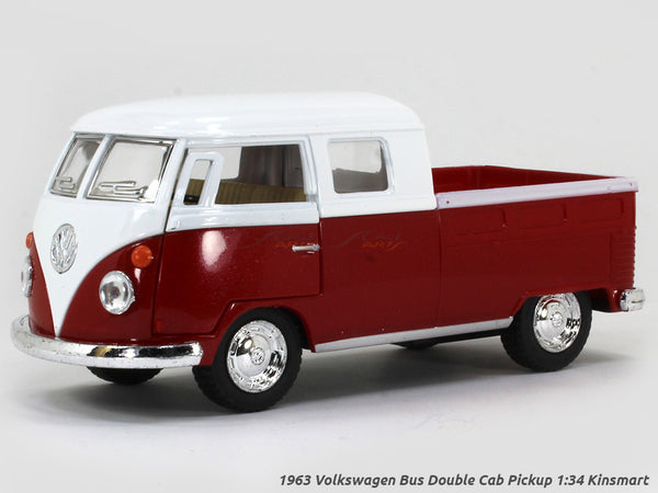 1963 Volkswagen Bus Double Cab Pickup 1:34 Kinsmart scale model