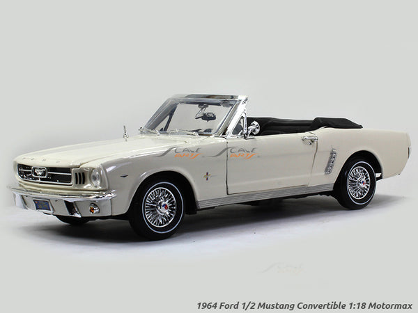1964 Ford 1/2 Mustang Convertible 1:18 Motormax diecast scale model car