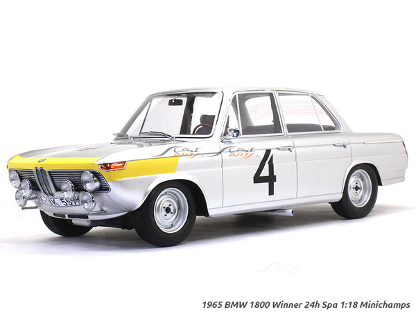 1965 BMW 1800 Winner 24h Spa 1:18 Minichamps scale model car