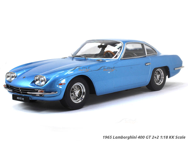 1965 Lamborghini 400 GT 2+2 blue 1:18 KK Scale diecast model car