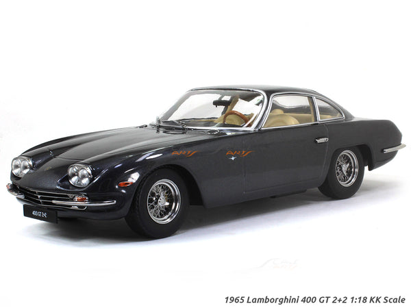 1965 Lamborghini 400 GT 2+2 gray 1:18 KK Scale diecast model car