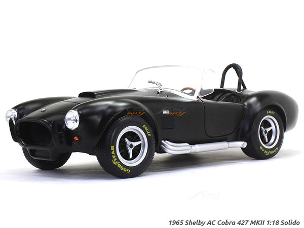 1965 Shelby AC Cobra 427 MKII matte black 1:18 Solido diecast Scale Model Car