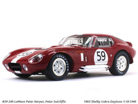 1965 Shelby Cobra Daytona 24h LeMans Peter Harper, Peter Sutcliffe 1:18 CMR diecast scale model car