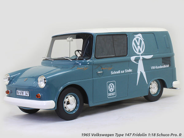1965 Volkswagen Type 147 Fridolin 1:18 Schuco Pro. R Scale Model Van