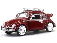 1966 Volkswagen Classic Beetle with roofrack 1:24 Motormax diecast scale model car