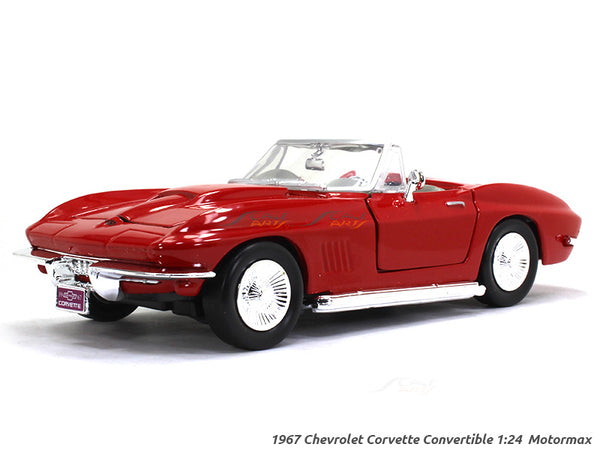 1967 Chevrolet Corvette Convertible 1:24 Motormax diecast scale model car
