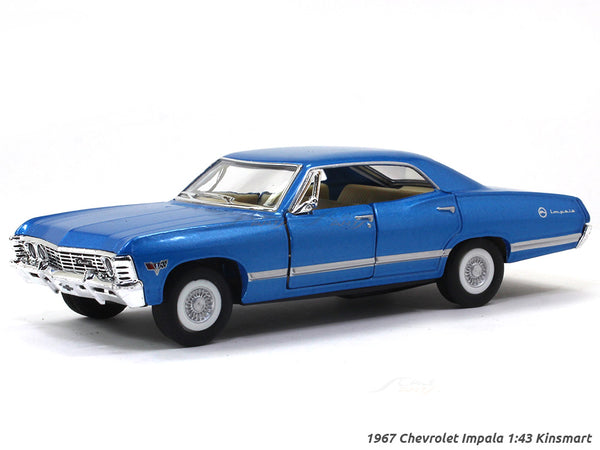 1967 Chevrolet Impala blue 1:43 Kinsmart scale model car