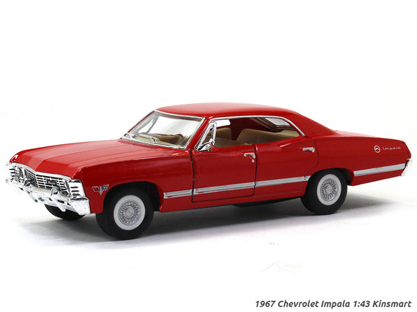 1967 Chevrolet Impala red 1:43 Kinsmart scale model car