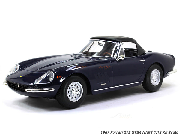 1967 Ferrari 275 GTB4 NART blue 1:18 KK Scale diecast model car