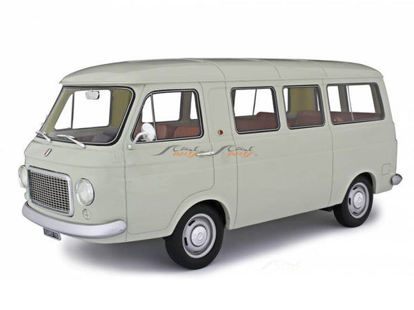 PreBook : 1967 Fiat 238 Series 1 Minibus gray 1:18 Laudoracing Scale Model Van