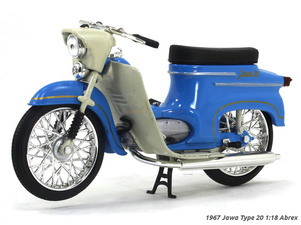 1967 Jawa Type 20 blue 1:18 Abrex diecast Scale Model Bike