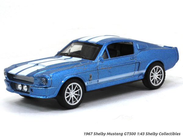 1967 Shelby Mustang GT500 blue 1:43 Shelby Collectibles diecast Scale Model Car