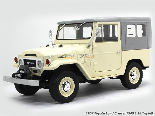 1967 Toyota Land Cruiser FJ40 soft top 1:18 Triple9 diecast Scale Model Car