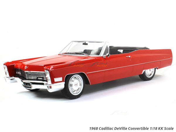 1968 Cadillac DeVille Convertible red 1:18 KK Scale diecast model car