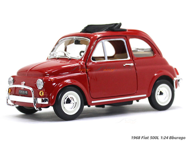 1968 Fiat 500L 1:24 Bburago diecast Scale Model car