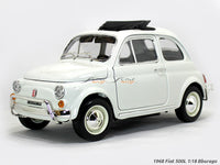 1968 Fiat 500L 1:18 Bburago diecast scale model car collectible