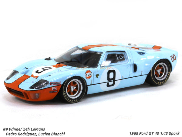 1968 Ford GT 40 #9 Gulf Winner 24h LeMans 1:43 Spark diecast Scale Model Car