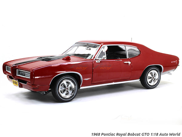 1968 Pontiac Royal Bobcat GTO 1:18 Auto World diecast scale model car