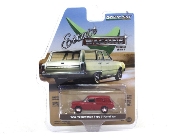 1968 Volkswagen Type 3 Squareback Panel Van 1:64 Greenlight diecast Scale Model car