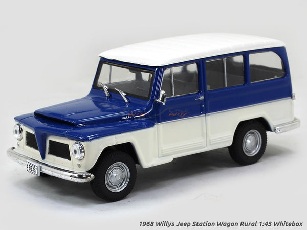1968 Willys Jeep Station Wagon Rural 1:43 Whitebox diecast Scale Model Car