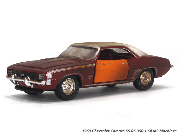 1969 Chevrolet Camaro SS RS 350 1:64 M2 Machines diecast Scale Model Car