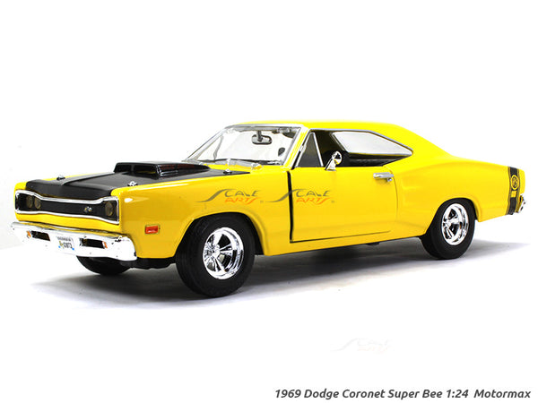 1969 Dodge Coronet Super Bee 1:24 Motormax diecast scale model car