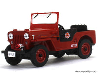 1969 Jeep Willys Fire dept 1:43 diecast Scale Model Car