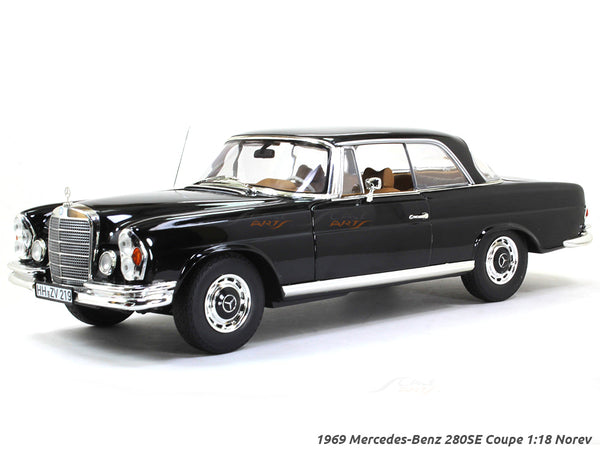1969 Mercedes-Benz 280SE Coupe black 1:18 Norev diecast scale model car