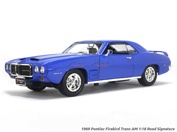 1969 Pontiac Firebird Trans AM blue 1:18 Road Signature Yatming diecast scale model car