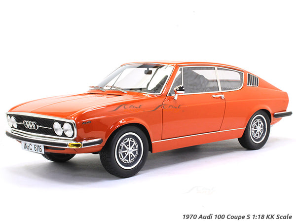 1970 Audi 100 Coupe S red 1:18 KK Scale model car