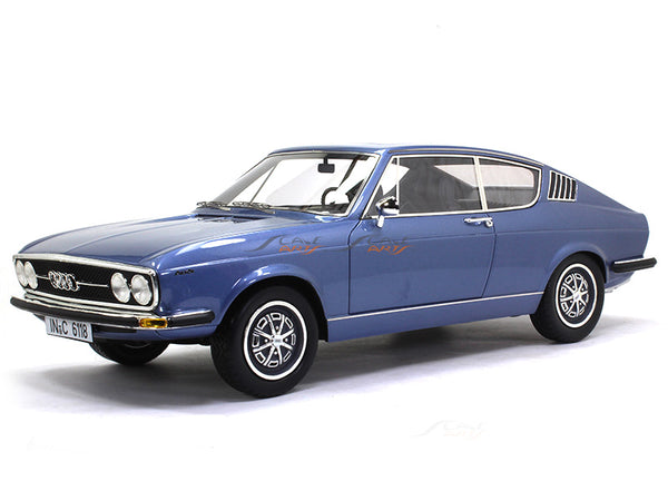 1970 Audi 100 Coupe S Blue 1:18 KK Scale model car