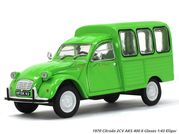 1970 Citroen 2CV AKS 400 6 Glaces 1:43 Eligor diecast Scale Model Car