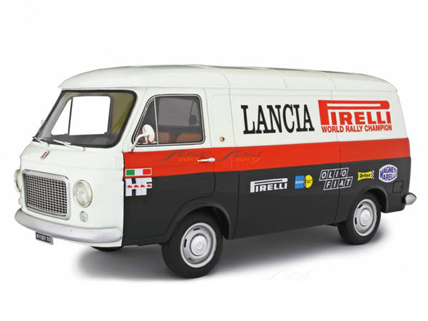 PreBook : 1970 Fiat 238 Series 1 Lancia rally service 1:18 Laudoracing Scale Model Van