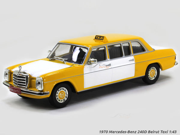 1970 Mercedes-Benz 240D Beirut Taxi 1:43 diecast Scale Model Car