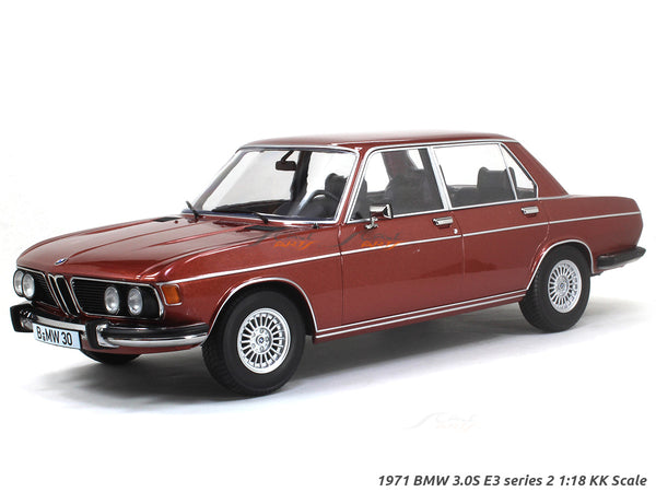 1971 BMW 3.0S E3 series 2 red 1:18 KK Scale diecast model car