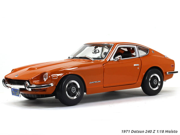 1971 Datsun 240 Z orange 1:18 Maisto diecast Scale Model car